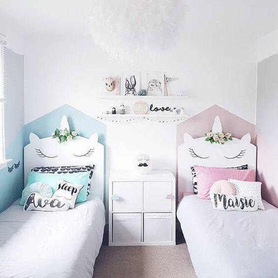 tête de lit licorne